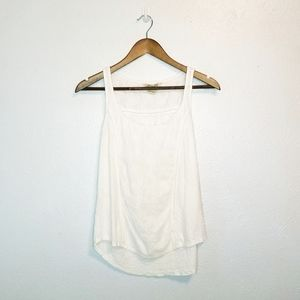 4/$25 Lucky Brand 100% cotton embroidered tank top
